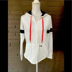 Under Armour NWT White zip front hoodie XS